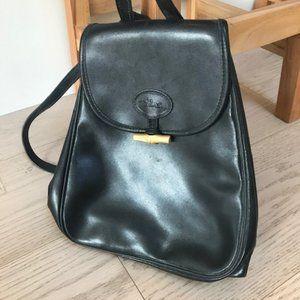 Longchamp leather knapsack.